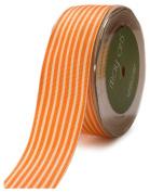 May Arts 3.8cm Wide Ribbon, Orange Grosgrain Stripe