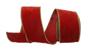 Renaissance 2000 Ribbon, 6.4cm , Red Velvet with Red Velvet Lamour
