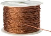 May Arts 1mm Wide Ribbon, Metallic Copper Cord