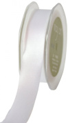 May Arts 10cm Wide Ribbon, White Satin
