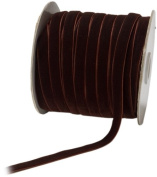 May Arts 1cm Wide Ribbon, Brown Velvet