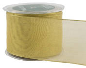 May Arts 6.4cm Wide Ribbon, Metallic Gold