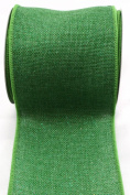 Kel-Toy RDJB104-28 Sparkle Faux Burlap Ribbon, 10cm by 10-Yard, Forest Green