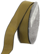 Ampelco Ribbon Company French Wired 27-Yard Taffeta Ribbon, 2.5cm , Dijon