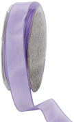 Ampelco Ribbon Company French Wired 27-Yard Taffeta Ribbon, 2.5cm , Lavender