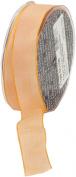 Ampelco Ribbon Company French Wired 27-Yard Taffeta Ribbon, 2.5cm , Peach