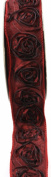 Kel-Toy Dimensional Rose Ribbon, 3.8cm by 10-Yard, Deep Red/Wine