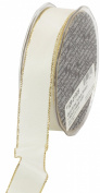 Ampelco Ribbon Company Gold Wired 27-Yard Taffeta Ribbon, 2.5cm , Ivory