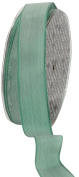 Ampelco Ribbon Company French Wired 27-Yard Taffeta Ribbon, 2.5cm , Whisper Jade