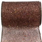 Kel-Toy Metallic Glitter Mesh Net Ribbon, 15cm by 10-Yard, Copper
