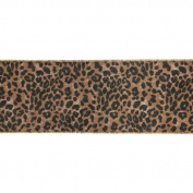 Leopard Gold and Black Wired Craft Ribbon 10cm x 10 Yards