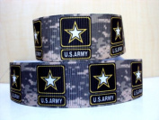 5 yards 2.5cm Military Inspired NEW US Army Camo Print Grosgrain Ribbon
