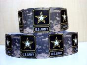 5 yards 2.5cm Military Inspired NEW US Army Camo Print Grosgrain Ribbon