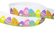 5yd 2.2cm Easter Eggs Grosgrain Ribbon--Spring Multi