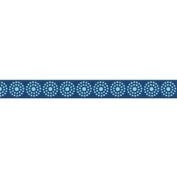 25 Yard Spool 1.6cm Wide Blue Tonal Dot Designer Grosgrain Ribbon Riley Blake Sew Together