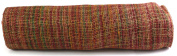 Kel-Toy Mixed Colour Jute Burlap Ribbon Roll, 46cm by 10-Yard, Rose Pink/Burgundy/Gold/Green