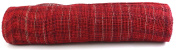 Kel-Toy Mixed Colour Jute Burlap Ribbon Roll, 46cm by 10-Yard, Burgundy/Red