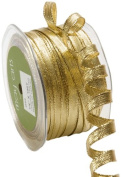 May Arts 0.6cm Wide Ribbon, Metallic Gold