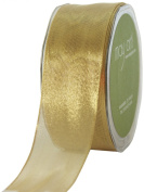 May Arts 3.8cm Wide Ribbon, Metallic Gold
