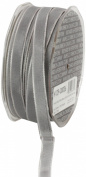 Ampelco Ribbon Company French Wired 54-Yard Taffeta Ribbon, 1cm , Silver Grey