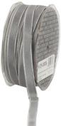 Ampelco Ribbon Company French Wired 54-Yard Taffeta Ribbon, 1cm , Silver Grey
