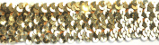 Belagio BK-303-10 Elastic Sequin Trimming, 38mm, Gold, 10 yard/roll