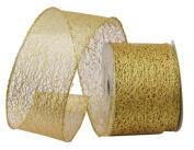 Renaissance 2000 Ribbon, 6.4cm , Gold