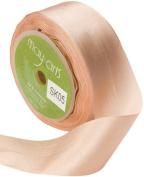 May Arts 3.8cm Wide Ribbon, Champagne Silk