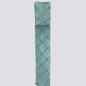 6.4cm X10yd Aqua Faux Taffeta Pin Tuck Ribbon.