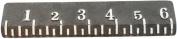 HomArt Cast Iron Ruler, 15cm , Natural White Text