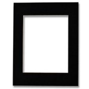 4x6 (5x7 Outer) Acid Free Bevel Cut Mat - Black Colour/White Core