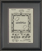 Monopoly Board Game Patent Art Wall Hanging 11x14 | Gamer Gift