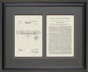 Blimp Patent Art Wall Haning 16x20   Pilot Aviator Gift