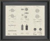 Nikola Tesla Patent Art Collection 20x24 | Inventor Print Gift