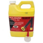 MARSH Rolmark Stencil Ink, 0.9l Can, Yellow