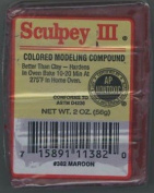 Sculpey III #382 Maroon Modelling Compound 60ml