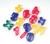 School Smart Numeric Shapes Clay Cutters Set - 4.4cm - Set of 14 - Assorted Colours