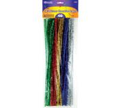 BAZIC Glitter Chenille Stems, 30cm , Assorted, 40 Per Pack