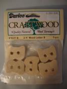 Darice Craftwood 1.9cm Wood Letter B - 5pcs