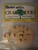Darice Craftwood 1.9cm Wood Letter F - 5pcs