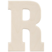 Baltic Birch University Font Letters & Numbers 13cm -Letter R