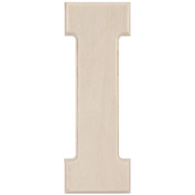 Baltic Birch University Font Letters & Numbers 13cm -Letter I