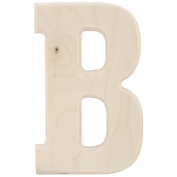 Baltic Birch University Font Letters & Numbers 13cm -Letter B