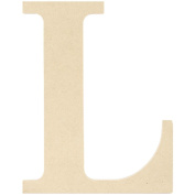 MDF Classic Font Wood Letters & Numbers 24cm -Letter L
