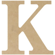 MDF Classic Font Wood Letters & Numbers 24cm -Letter K