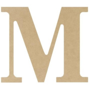 MDF Classic Font Wood Letters & Numbers 24cm -Letter M