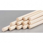 Wood Dowel 0.6cm x 30cm (12)