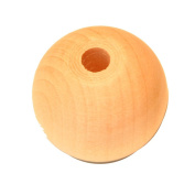 12 - 1 inch 25MM Round Wood Beads with 7/32 hole