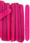 100 Wood Jumbo Craft Sticks Pink Colour