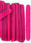 100 Wood Jumbo Craft Sticks Pink Colour